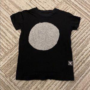 Black with gray dot toddler t-shirt